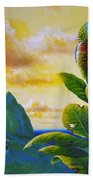 Morning Glory - St. Lucia Parrots Beach Towel