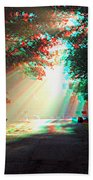 Morning Light - Use Red-cyan 3d Glasses Beach Towel
