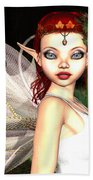 Morning Lily Fairy Beach Towel
