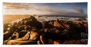 Morning Ocean Panorama Beach Towel