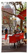 Morning On A Street In Tel Aviv Beach Towel by Zalman Latzkovich