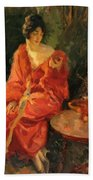 Morning Reflections 1910 Beach Towel