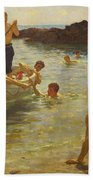 Morning Splendour Beach Towel by Henry Scott Tuke