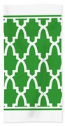 Moroccan Arch With Border In Dublin Green Beach Towel