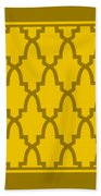 Moroccan Arch With Border In Mustard Beach Towel
