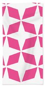 Moroccan Inlay With Border In French Pink Beach Towel