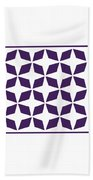 Moroccan Inlay With Border In Purple Beach Towel