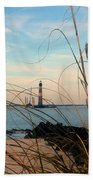 Morris Island Lighthouse In Charleston Sc Beach Towel