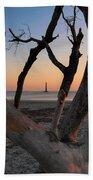Morris Island Lighthouse Sunrise 2 Beach Towel