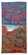 Morrow Mountain Overlook Beach Towel