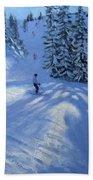 Morzine Ski Run Beach Towel