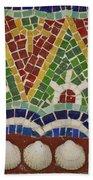 Mosaic Fountain Pattern Detail 4 Beach Towel