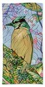 Mosaic Of Blue Jay Beach Towel