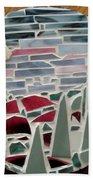 Mosaic Sailboats Beach Towel