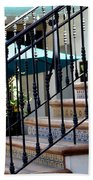 Mosaic Tile Staircase In La Quinta California Art District Beach Towel
