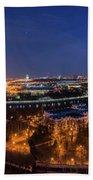 Moscow Night Panorama Beach Towel