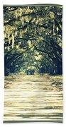 Moss Green Road Beach Towel