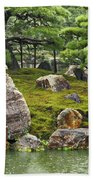 Mossy Japanese Garden Beach Towel by Carol Groenen