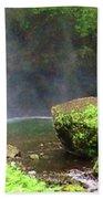 Mossy Rock Beach Towel
