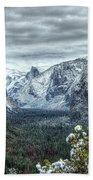 Most Beautiful Yosemite National Park Tunnel View Beach Towel