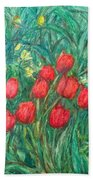 Mostly Tulips Beach Towel