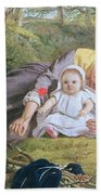 Mother And Child With A Poppy Beach Towel