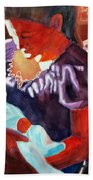 Mother And Newborn Child Beach Towel by Kathy Braud