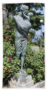 Mother Child Statue Beach Towel