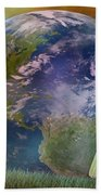 Mother Earth Series Plate3 Beach Towel