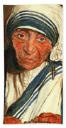 Mother Teresa  Beach Towel by Carole Spandau