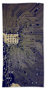Motherboard Architecture Blue Beach Towel