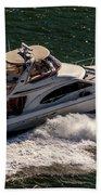 Motor Boat 2 Beach Towel