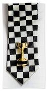 Motor Sport Racing Tie And Trophy Beach Towel