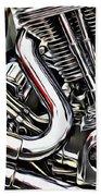 Motorcycle Reds Beach Towel
