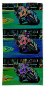 Motorcycle Road Race Beach Towel