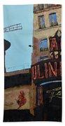 Moulin Rouge Beach Towel
