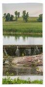 Mound Lake Dam 1 Beach Towel