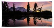 Mount Baker Sunrise Reflection Beach Towel