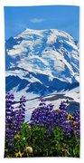 Mount Baker Wildflowers Beach Towel