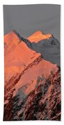 Mount Cook Range On South Island In New Zealand Beach Towel