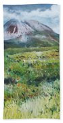 Mount Errigal County Donegal Ireland 2016 Beach Towel