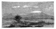 Mount Kilimanjaro, 1884 Beach Towel