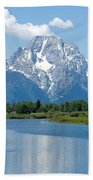 Mount Moran At Oxbow Bend Beach Towel