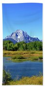 Mount Moran, Grand Tetons National Park, Wyoming  Beach Towel