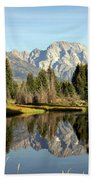 Mount Moran Reflections Beach Towel
