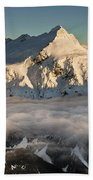 Mount Pollux And Mount Castor At Dawn Beach Towel