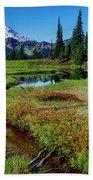 Mount Rainier- Upper Tipsoo Lake Beach Towel