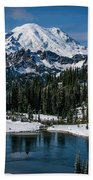 Mount Rainier - Tipsoo Lake Beach Towel
