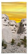 Mount Rushmore 11 Digital Art Beach Towel