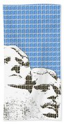 Mount Rushmore - Blue Beach Towel